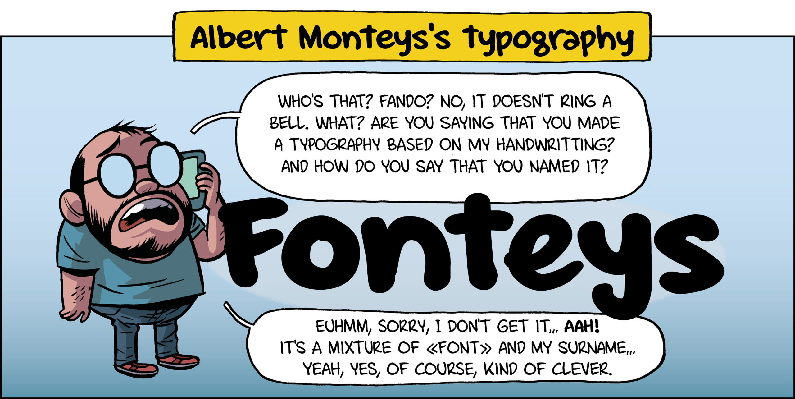 Albert Monteys's typography