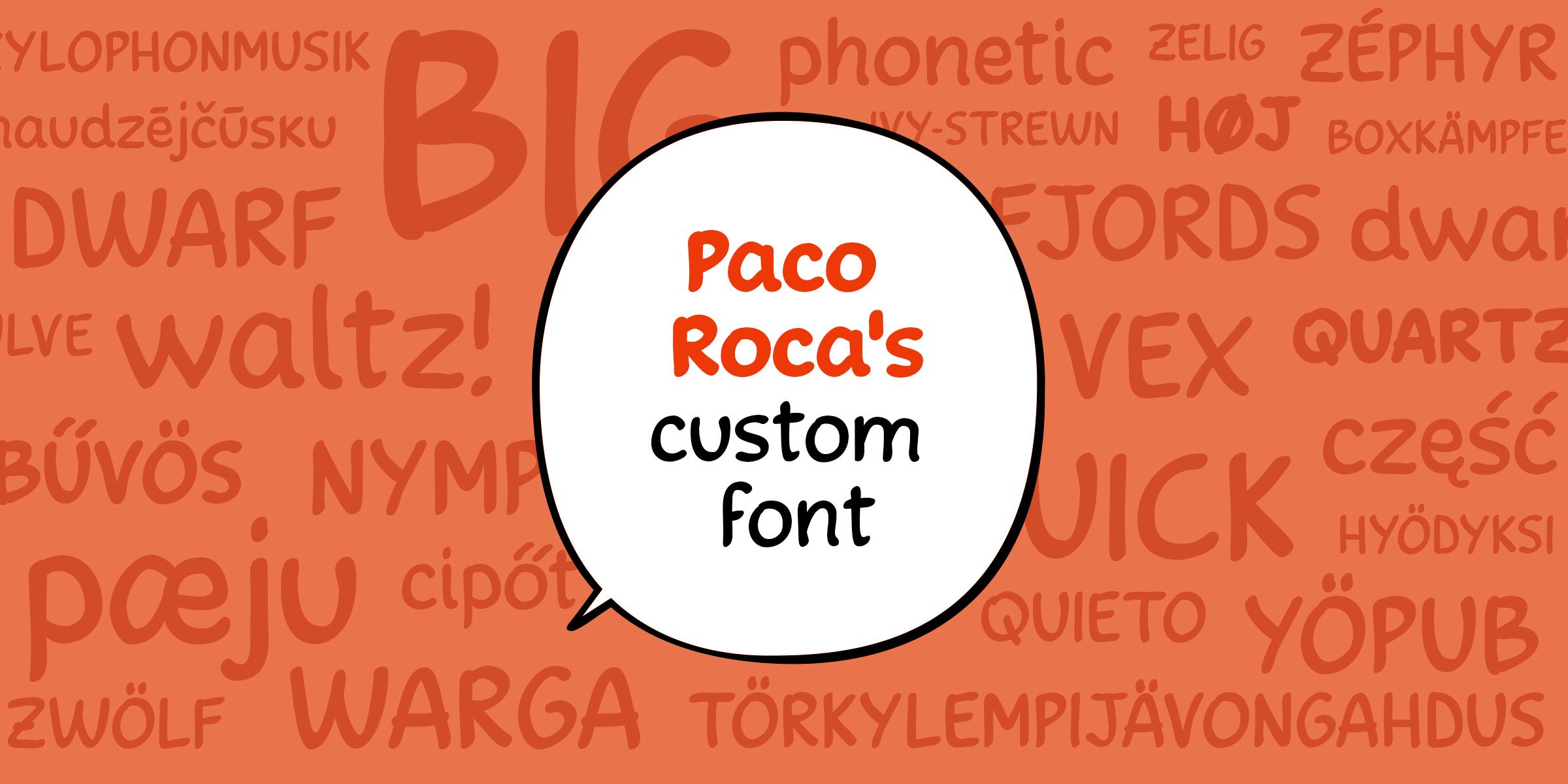 Paco Roca's custom font